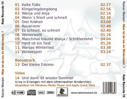 Rainer Wenzel - CD - Backcover